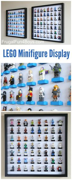 IKEA Frame LEGO Minifigure Display and Storage - Each frame holds 56 LEGO guys. Make one or a few for a huge collection. Check out new & improved Check Lego storage organzier - launching soon on Kickstarter