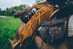 Comancheros' 100% waterproof STC Cordura saddlebag. Complete saddlebags and italian leather chaps.