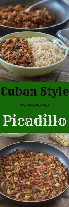 Cuban style picadillo Learn to make the best Picadillo recipe - paleo, gluten free Beef Recipes, Mexican Food Recipes, Dinner Recipes, Cooking Recipes, Healthy Recipes, Ethnic Recipes, Healthy Breakfasts, Shake Recipes, Gastronomia