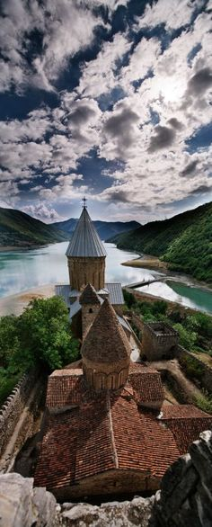 Ananuri Cathedral, Georgia (country) http://reversehomesickness.com/asia/armenian-monasteries-and-monuments/ #armenia  #monastery
