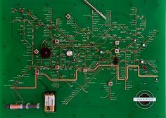 Circuit Board Tube Map by Yuri Suzuki