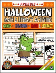 lesson free halloween no prep variety activities pack alphabets - Online Halloween Math Games