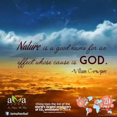 #Nature is a good name for an effect whose cause is God ! Follow #QuoteOfTheDay daily : https://www.facebook.com/amaherbal/photos/a.283777945111081.1073741829.274434279378781/526099947545545/?type=3&theater…