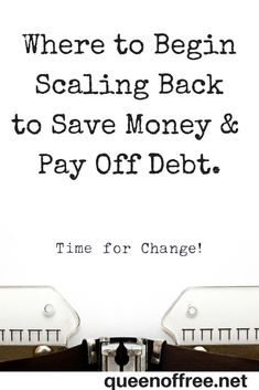 Making too many budget changes too quickly will have negative results. Get some great out of the box ideas for where to begin and practical strategies for sustaining long term budget changes to save money and pay off debt! Make Quick Money, Ways To Save Money, Money Tips, Money Saving Tips, Money Fast, Show Me The Money, Get Out Of Debt, Budgeting Money, Financial Tips