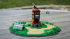 Absolutely amazing microscale LEGO Burrow from Harry Potter. #lego #microbuild