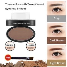 Eyebrow Stamp Powder Professional Natural Beauty Makeup Tool Two Eyebrow Shapes #EyebrowStampChina