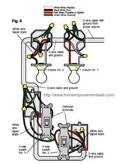 2way Switch with Lights Wiring Diagram in 2019 Home