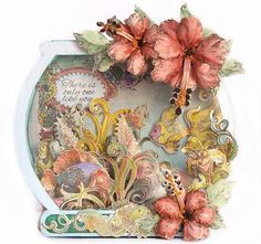 Susan Smit: Heartfelt Creations, Under The Sea. Flower Cards, Paper Flowers, Heartfelt Creations Cards, Card Tags, Men's Cards, Easel Cards, Pretty Cards, Homemade Cards, Altered Art