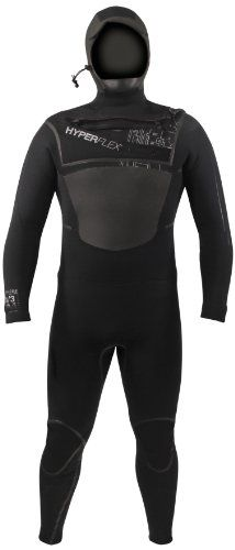 Hyperflex Wetsuits Mens 654mm Hooded Amp3 Front Zip Fullsuit Black M  Surfing Windsurfing  Wakeboarding -- Click image for more details. This is an Amazon Affiliate links.