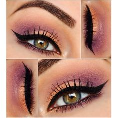 So many dramatic looks this week, finally something softer. Peach & Purple for today. Used @BH Cosmetics Galaxy Chic palette, mixed Saturn and Venus. Mac Shale+Nocturnelle for the purple.