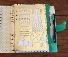 un joli pochoir règle à insérer dans son planner, agenda scolaire à personnaliser et décorer