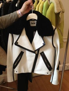 Acne: love a good jacket.. you could wear this with a black pencil skirt, jeans, over a dress.. anything..