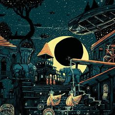the moon over looking long forgotten things - James R. Eads