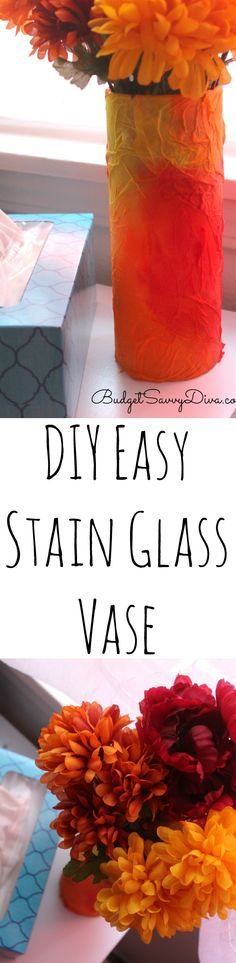 How To Make A Easy Stain Glass Vase For Kids ad #kleenexcares