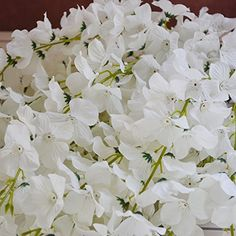 50 Pcs Single Artificial Fake Wisteria Vine Ratta Silk Flower for Garden and Home Decor white *** To view further for this item, visit the image link.