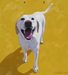 Seriously, if this doesn't make you smile then you really need to get a life. #DogPainting