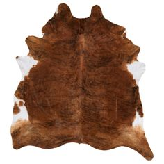 """$199 KOLDBY Cowhide - brown/white - IKEA    Hides are so """"IN.""""  At this price anyone can be HIP."""
