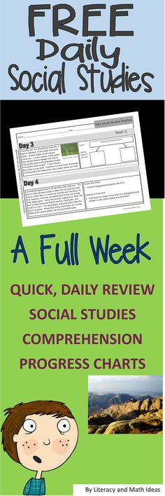 Free Daily Social Studies Practice--Review landforms, national landmarks, biomes, the Mayflower, Westward Expansion and more topics across the weeks.
