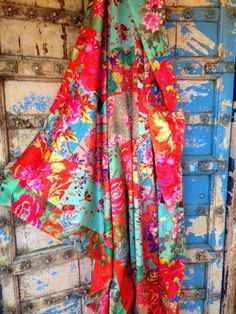 Anna Chandler Design Gypsy print velvet throw.