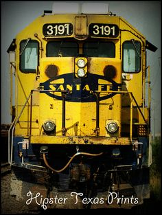 Train Fine Art Photography - Color Wall Art Print - Santa Fe Railroad Engine on Etsy, $15.00