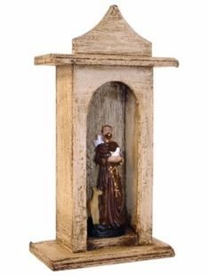 Oratório Madeira 17,5x9x5cm - Santinhos Ajuda Divina