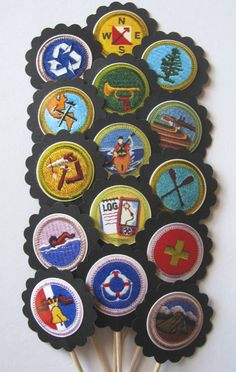 Scouts Merit Badge Cupcake Toppers/Party by CupcakeToppersGalore
