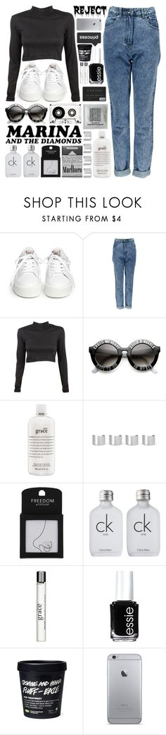 """✴; Then we'll shoot across the sky"" by my-path-to-oblivion ❤ liked on Polyvore featuring Ash, Boohoo, Edith A. Miller, philosophy, Forum, Maison Margiela, Topshop, Calvin Klein, Essie and jasmines_faves"