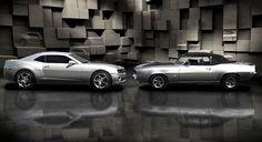 2011 Camaro SS & 1969 Camero SS Cars Speed HotRod