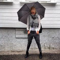 Nå er den her!! Superfin jolie bukse fra #fiveunits. #ullskjerf fra #becksøndergaard, trendy t-skjorte fra #secondfemale. Velkommen til en inspirerende høsthandel.