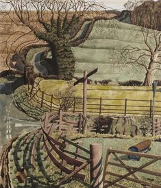 """""""Off the Beaten Track"""" by Simon Palmer (watercolour, ink and gouache)"""