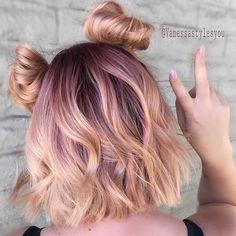 "8,269 Likes, 99 Comments - #MODERNSALON (@modernsalon) on Instagram: ""Peach hair, don't care @vanessastylesyou #modernsalon"""