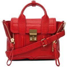 3.1 phillip lim Mini Pashli Satchel (960 AUD) ❤ liked on Polyvore featuring bags, handbags, purses, mini satchel handbags, handle satchel, miniature purse, mini satchel and mini handbags