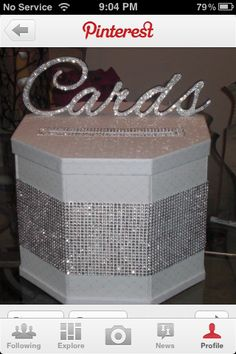 Card box... Navy, not so much bling