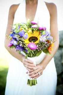 WeddingChannel Galleries: Summery sunflower bridal bouquet