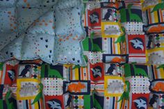Dinosaur Cotton Weighted blanket Small/toddler (38x55) by ThreeHighChairs on Etsy