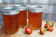 Rose hip jam and jelly recipe.  I made rosehip jelly a couple years ago and it was tasty.  The jam contains orange so it would be a power pack of vitamin C as the rose hips contain lots too!
