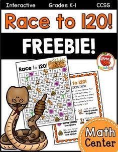 Math Center FREEBIE: Race to 120!