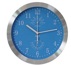 hito Modern Silent Wall Clock Non Ticking 10 inch Excellent Accurate Sweep Movement Silver Aluminum Frame Glass Cover, Decorative for Kitchen, Living Room, Bedroom, Bathroom, Bedroom, Office (Blue) Best Wall Clocks, Wall Clock Silent, Large Clock Hands, Wall Clock Elegant, Wall Clock Digital, Wall Clock Price, Wall Clock Wooden, White Clocks, Office Wall Decor