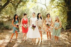 Mismatched bridesmaids