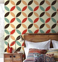decoração de apartamento alugado tecido na parede