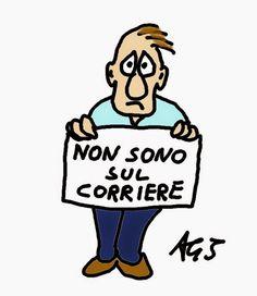 Il Corriere della sera ruba le vignette dei migliori disegnatori italiani. Io manco quella soddisfazione
