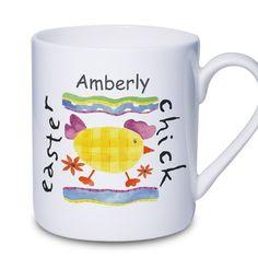 Easter Gift Ideas - Personalised Easter Chick Mug - Easter Gift for Children  £6.99
