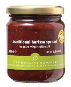 Moulin Mahjoub, Organic Traditional Harissa Spread in Extra Virgin Olive Oil, 185 gr Jar - http://goodvibeorganics.com/moulin-mahjoub-organic-traditional-harissa-spread-in-extra-virgin-olive-oil-185-gr-jar/