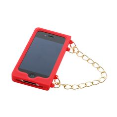 iPhone 4 hoesje met handvat rood | Bart Smit