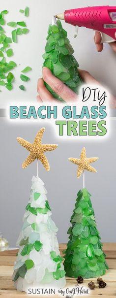 How To Make Christmas Tree, Beach Christmas, Homemade Christmas, Coastal Christmas, Xmas, Christmas Countdown, Merry Christmas, Driftwood Christmas Tree, Glass Christmas Tree