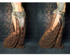 Pantalones de harén de danza del vientre tribal por CrudeThings