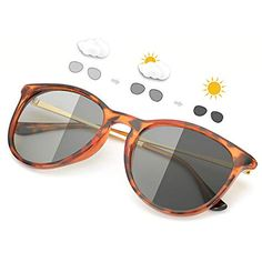 3f1e359d3a SIPHEW Gafas de Sol Fotocromaticas Polarizadas Eliminar Reflejos-Protección  100% UVA/UVB #
