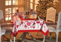 Toalha de mesa Janela Decorada