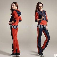 6e337e5ffb87 2014 Plus Size Women Red Sport suit Casual clothes 2pcs set 2014 More  colors Tracksuit Ladies