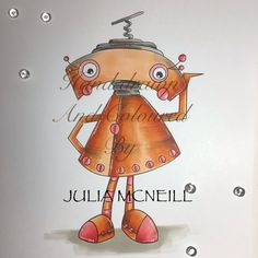 Fun Whimsical Digi Stamp perfect for the colouring enthusiast and paper crafter alike